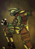 steampunk masterchief colored by kaladam