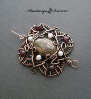 Brooch with bronzite by nastya-iv83