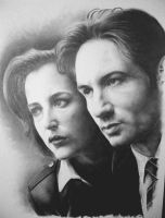 Mulder + Scully by sjm-80