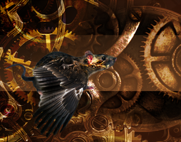 winged rat clockwork by mechanicalmasochist