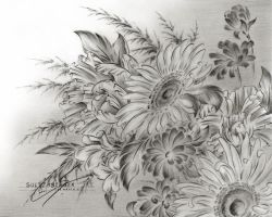 Flower Drawing 10 by Sultzaberger