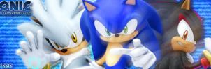 Sonic, Shadow, Silver by predatorwarrior1985