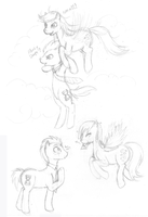 Sketch - Doctor Whooves - Derpy by tinuleaf