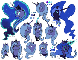 MLP:FiM - Princess Luna by LuckyNeko13