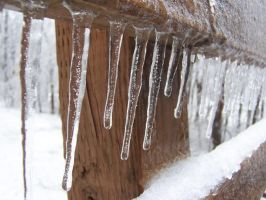 Icicles Closeup by Tuftless