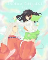Inuyasha and Kagome- Under A Different Sky by Betsiwetsi