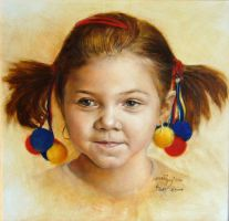 Portrait of the little Kate by joseph-art