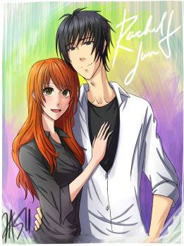 Rachel and Jun Fanart by kasuouhhitachiin