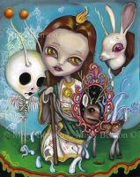 Saint Jude - fantasy pop surrealism art by gossamerfaery