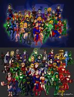 DC Characters 2007-2009 by TheoSar