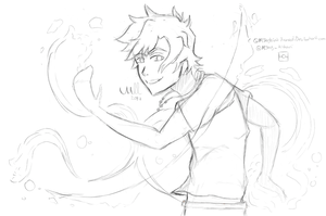Percy Jackson Water bending sketch desuu
