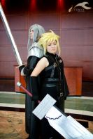 FFVII: Sephiroth + Cloud 03 by elysiagriffin