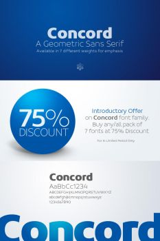 Concord Typeface Introductory Offer by akkasone