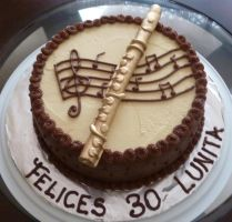Transverse flute CAKE by Marce07