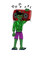 Orkswaaagh in a Hulk suit by Furries-of-marvel