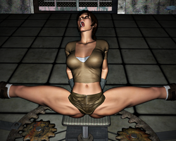 Lara Croft in Peril: The Spreader 13 by FatalHolds