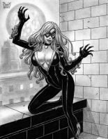 BLACK CAT Original EBAY Art PATTY Felicia Hardy by Sean-Patty