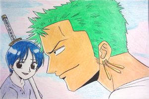 Zoro and Kuina by swimli888