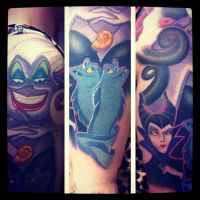 Connor Garritty: Disney Villan Sleeve by TimelessTattooLA