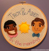 Troy and Abed in the Morning by loveandasandwich
