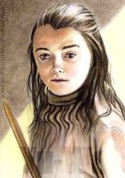 Maisie Williams miniature by whu-wei