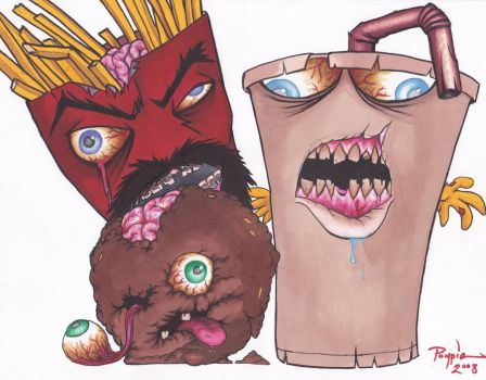 Aqua Teen Zombie Force by Pompster