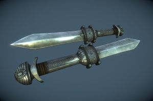 Ancient Nordic Dagger by InsanitySorrow