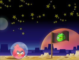 Angry Birds Space by Tsukino-Black