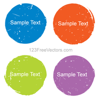 Color Grunge Circle Design Elements Vector by 123freevectors