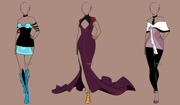 Fashion Adoptables Auction 15 - CLOSED by Karijn-s-Basement