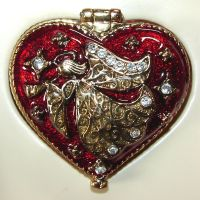 Heart Shaped Angel Trinket Box by FantasyStock