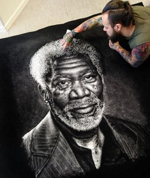 Morgan Freeman Made with SALT by AtomiccircuS