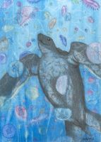 ACEO - Happy Seaturtle by Catamount