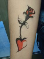 Rose Tattoo by DystopianVisionary