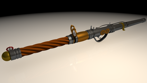 Steampunk Wand Textured by SwarleySwazenoskie