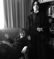 Snape and Bellatrix Cosplay by GrumpyCosplay