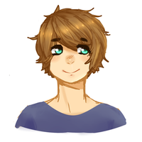 headshot thing doodle by Kimioops