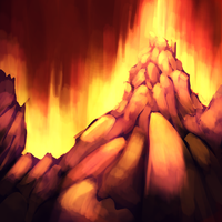 Red mountain by Miamelly