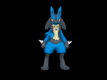 Lucario WIP by riolushinx