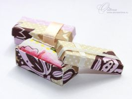 Very little boxes for cakes by OrionaJewelry