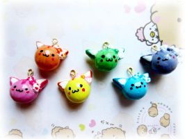 Rainbow Catbell Charm by starberrycharms