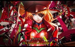 Asuka Evangelion | Signature | Photoshop by CagBcn