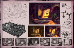 Grimm Tales: Environment and Process by Aerlynn