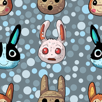 Animal Crossing Rabbits Seamless Background by Uw0