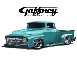 Colored Pencil Ford F-100 by theGaffney