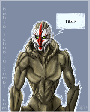 Do turians really have breasts? by HulluMel