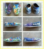 The Lorax shoes by ArtbyEG