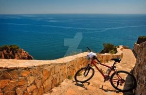 With the Mountainbike in Spain by SmartyPhoto