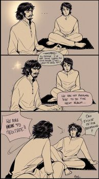 George and Paul in India! by common-boob
