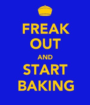 FREAK OUT and START BAKING by Phenixfeathers